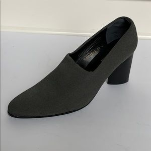 Vintage ROBERT CLERGERIE Charcoal Fabric Heels